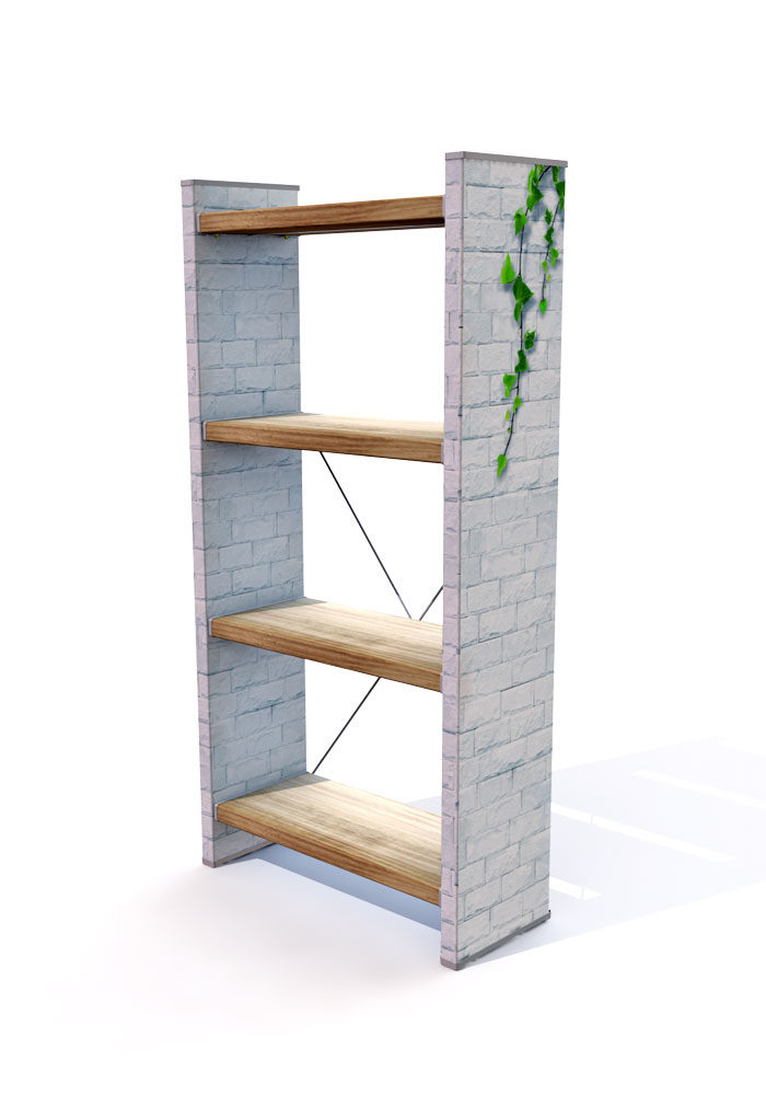 כוננית ספרים מעוצבת לחדר שינה